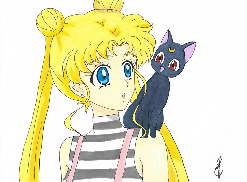Usagi Tsukino and Luna