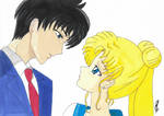 Mamoru and Usagi by eirinip5
