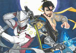 Genji and Hanzo  Shimada (Overwatch) by eirinip5