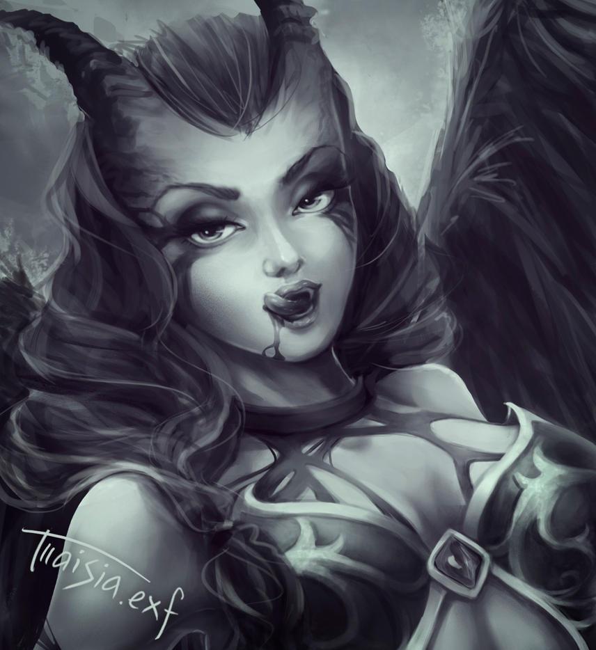 Queen Of Pain, dota2 by eksfo