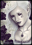 ACEO -- Black Rose Immortal