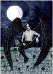 Midnight Angel -- Commission by ElvenstarArt