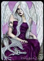 ACEO -- Dragon Angel by ElvenstarArt