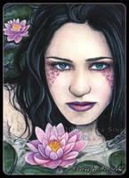ACEO -- Lotus by ElvenstarArt