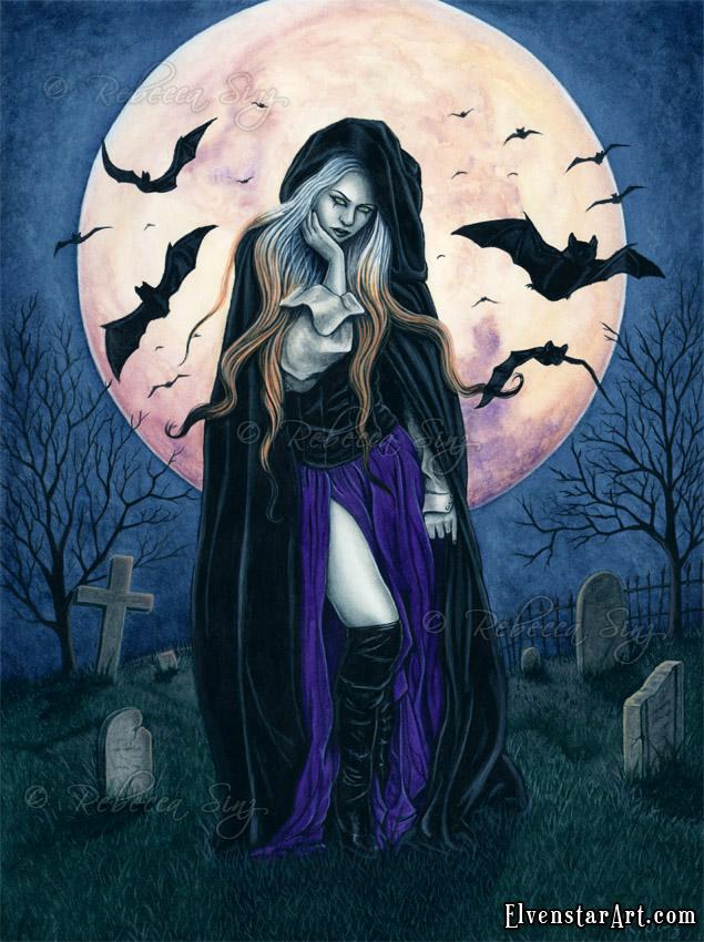 Harvest Moon by ElvenstarArt