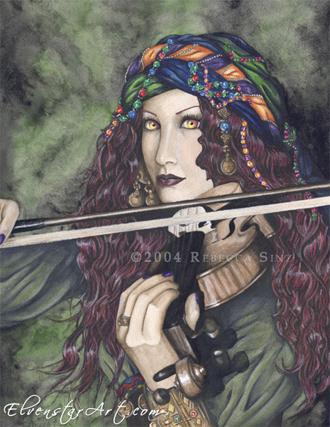 Enchanted Melodies: Violin by ElvenstarArt