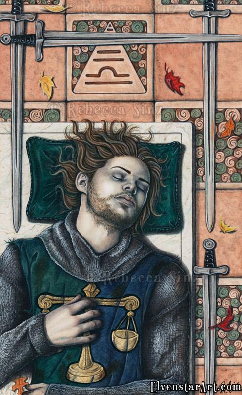 IV of Swords by ElvenstarArt
