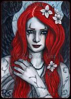 ACEO -- Crimson by ElvenstarArt