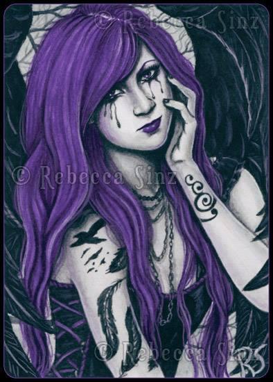 ACEO -- Violet by ElvenstarArt