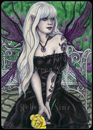 ACEO -- English Garden by ElvenstarArt
