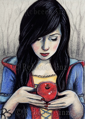 ACEO - Snow White by ElvenstarArt