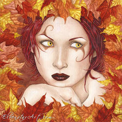 Fairy of the Autumn Wood by ElvenstarArt