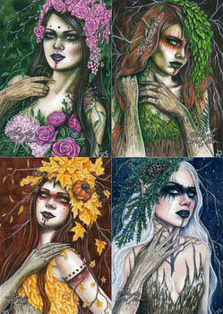 Seasonal Dryads Series
