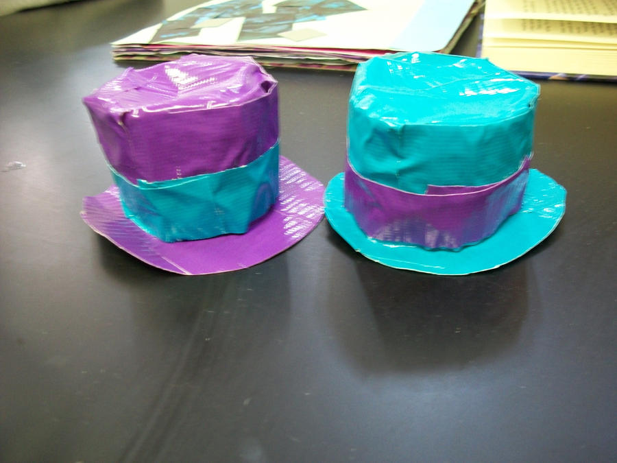 Mini duct tape top hats by kateshay on deviantart for Mini duct tape crafts