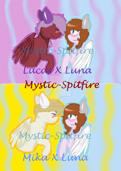 Lucas X Luna and Mika X Luna by Mystic-Spitfire