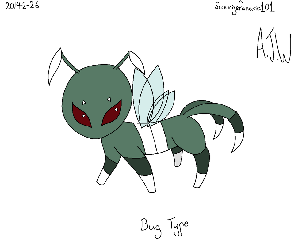 Eevee bug type *coloured version* by ScourgeFanatic101 on ...