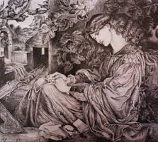 Pia Tolomei - after Dante Gabriel Rossetti by AlexndraMirica