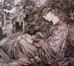 Pia Tolomei - after Dante Gabriel Rossetti