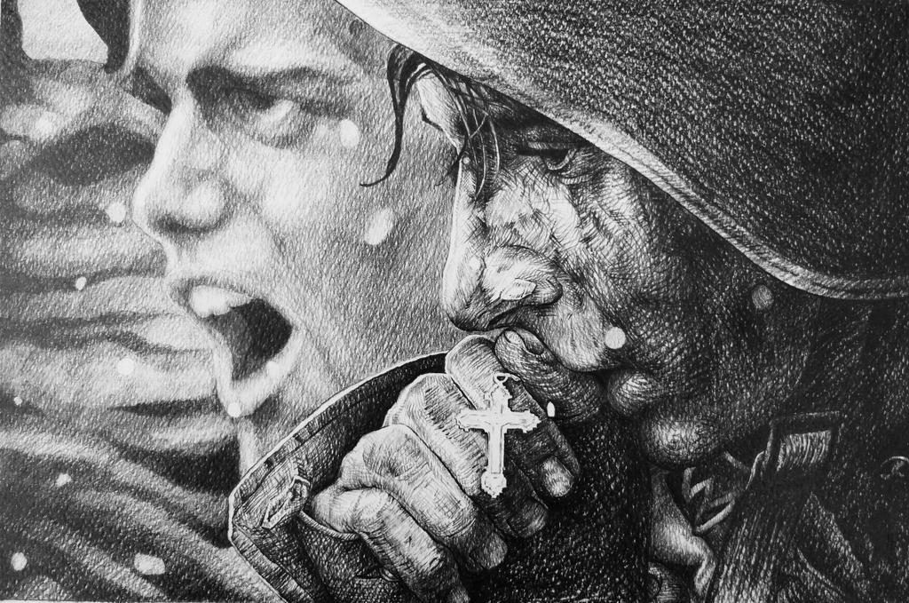"""Zone 1- """"Un rêve...Un cauchemar… Ramper, glisser le long du fil de la lame d'un rasoir et survivre""""- Apocalypse Now- α Dharma ω - Page 2 Russian_soldier_by_alexndramirica_d76tsar-fullview.jpg?token=eyJ0eXAiOiJKV1QiLCJhbGciOiJIUzI1NiJ9.eyJzdWIiOiJ1cm46YXBwOjdlMGQxODg5ODIyNjQzNzNhNWYwZDQxNWVhMGQyNmUwIiwiaXNzIjoidXJuOmFwcDo3ZTBkMTg4OTgyMjY0MzczYTVmMGQ0MTVlYTBkMjZlMCIsIm9iaiI6W1t7ImhlaWdodCI6Ijw9Njc5IiwicGF0aCI6IlwvZlwvZjFjYTgyNDItNzgwOS00ODdjLWFlNjgtNDc0YzBmMzIyMzgzXC9kNzZ0c2FyLTQzNjQ2MWVhLTE5OWItNDRmYy04ODFjLWZhNmRhNWRiOGQwMy5qcGciLCJ3aWR0aCI6Ijw9MTAyNCJ9XV0sImF1ZCI6WyJ1cm46c2VydmljZTppbWFnZS5vcGVyYXRpb25zIl19"""