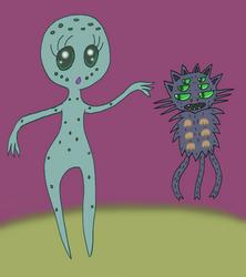 Alien and her Alien Cat