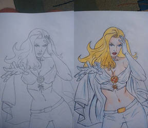 Emma Frost work in progress/work done by Remarkvc