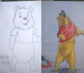 Winnie  pooh work in progress/work done by Remarkvc