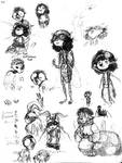 Bug Characters Concept Sketchdump by Amphibizzy
