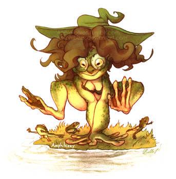 Frog Witch Izzy 2k17 by Amphibizzy