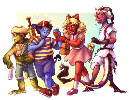 Earthbound Yokai Kids