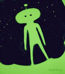 little green man by Amphibizzy