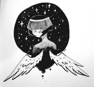 Inky angel