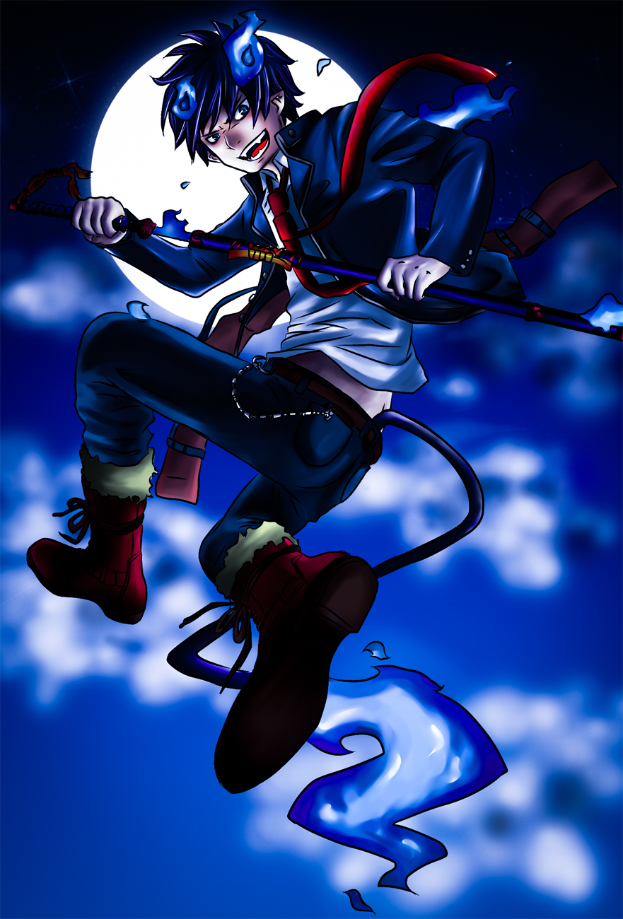 Ao No Exorcist Rin Okumura By Janashlley09 On Deviantart