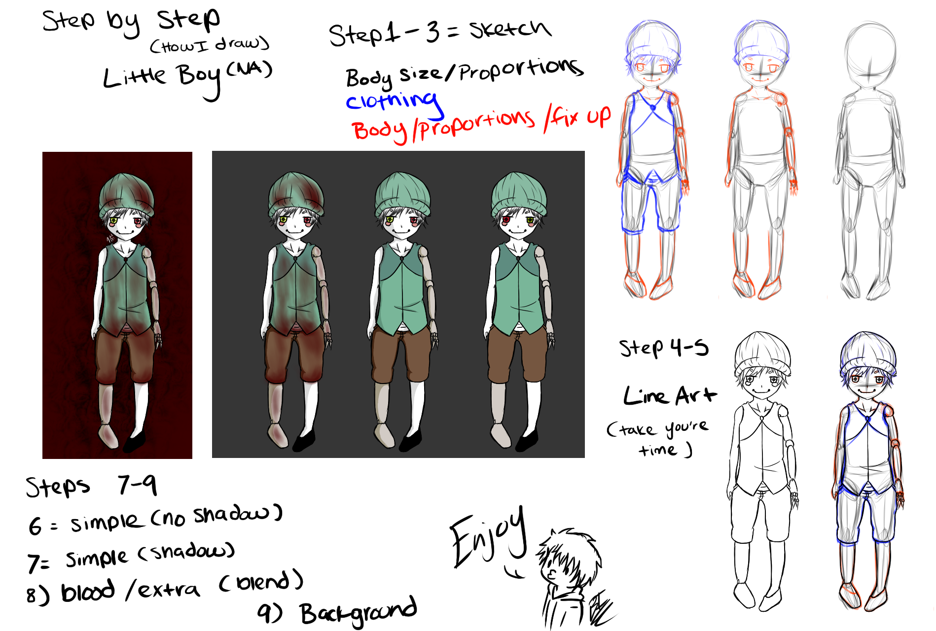 How i draw little kid na request by bakaidiota