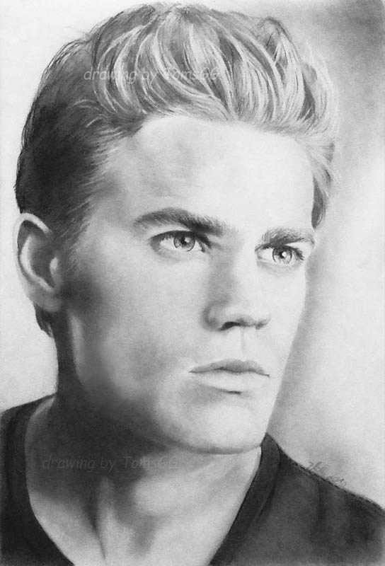 Paul wesley iii vampirediaries by tomsgg on deviantart - Vampire diaries dessin ...
