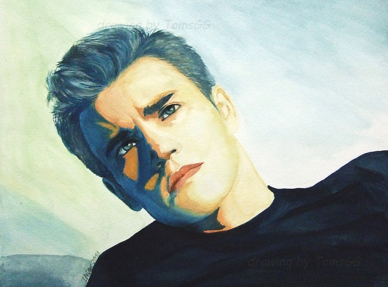 Paul Wesley - watercolor by TomsGG