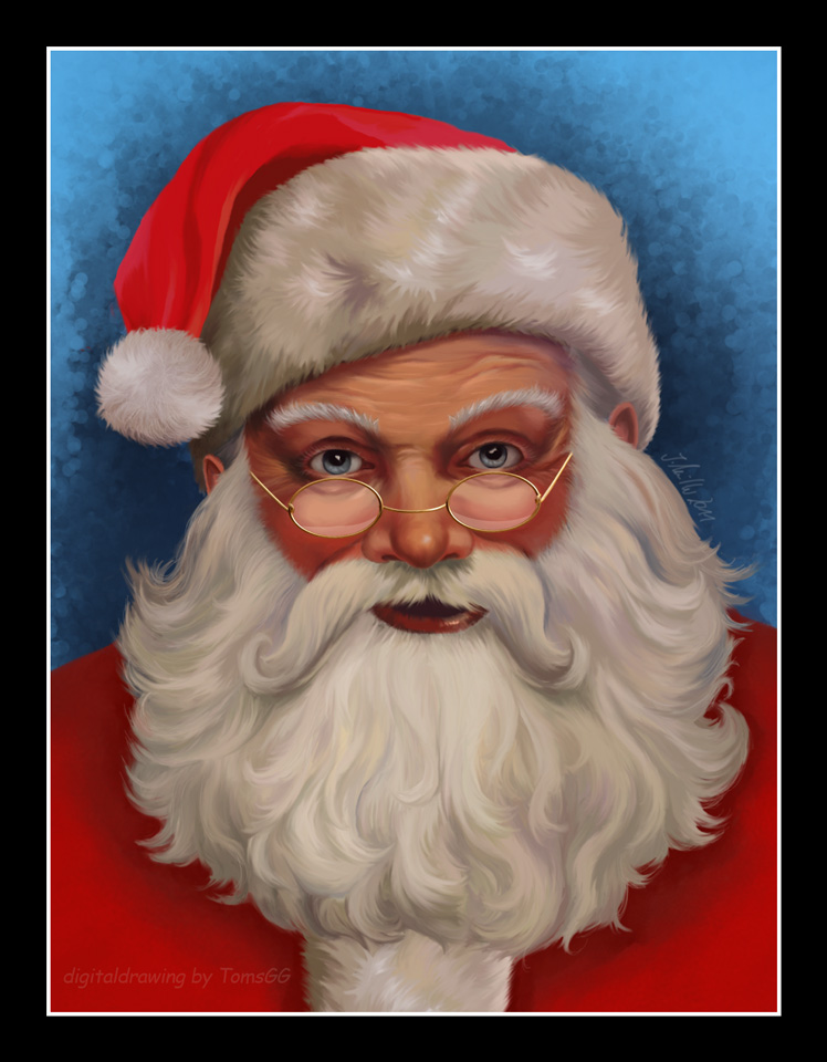 How To Draw Santa Claus Painting A Picture