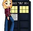 Rose + The TARDIS by sugarcube-princess