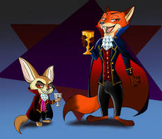Vampire Foxes by Marias182
