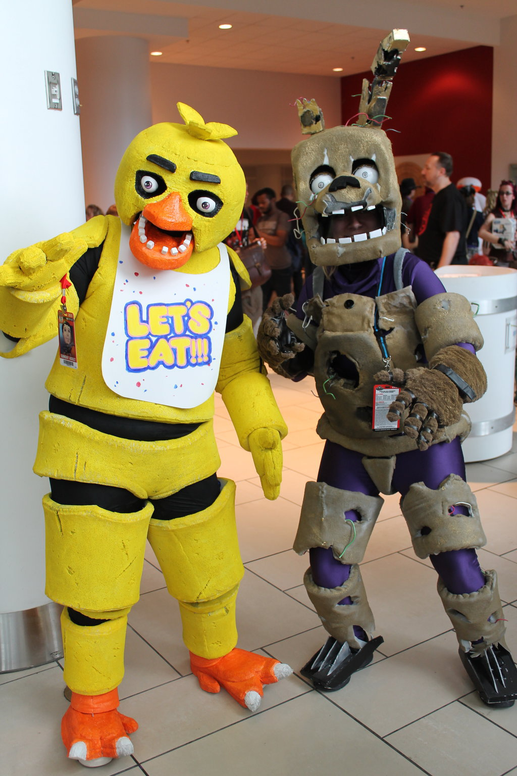 Springtrap and chica by thedirebarbwire on deviantart