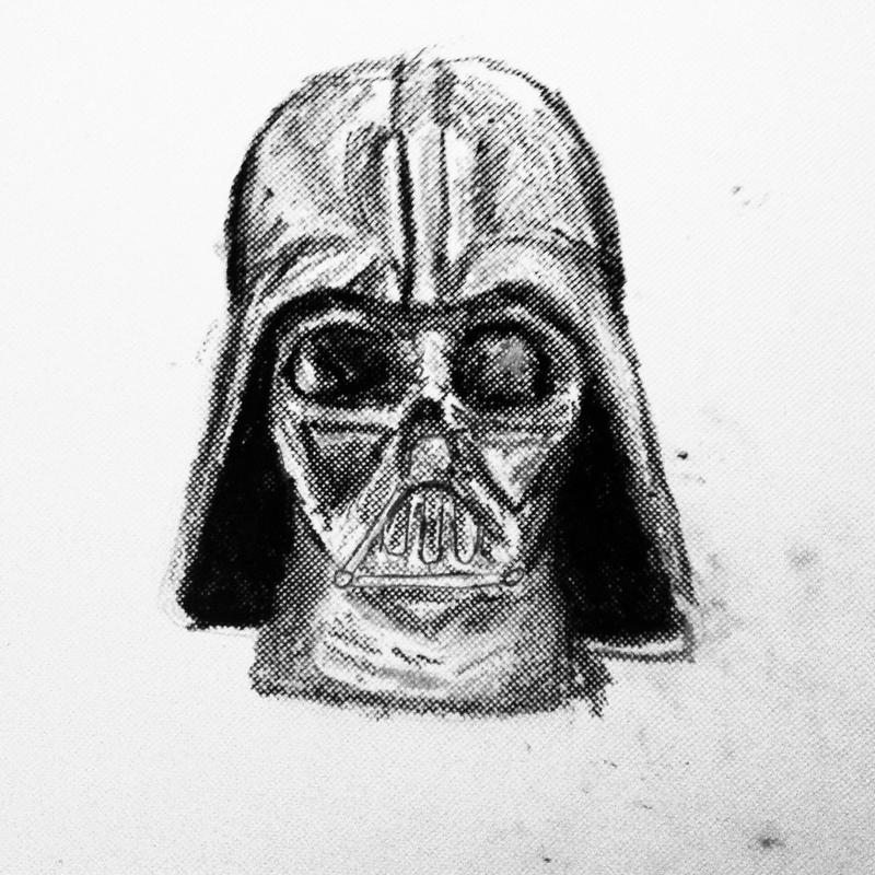 Vader Doodle by TheRandomPhangirl
