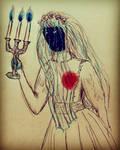 Inktober: The Beating Heart Bride