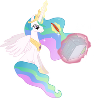 Princess Celestia's Royal Duties by JordiLa-Forge