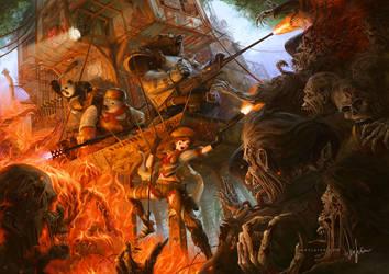 Goldilocks Kill Zombies by poibuts