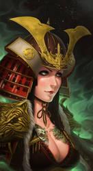 Samurai girl by poibuts