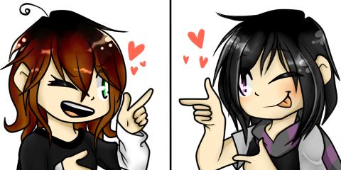 Natsuki (Me) and Bruno (userbruno16)  Human vers. by xXNatsukiArtXx01