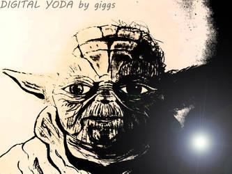 DIGITAL YODA..SKETCH REMASTER WITH PHOTOSHOP by Greekpencil69
