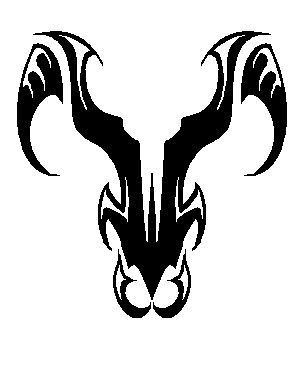 Zodiac Tattoo Designs With Image Zodiac Symbol Picture Tribal Aries Tattoo 3