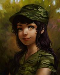 Corporal Olivia's portrait by RTCF