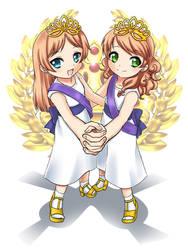 TRH Crown Princess Lottie and Lisa of Loldova by RTCF