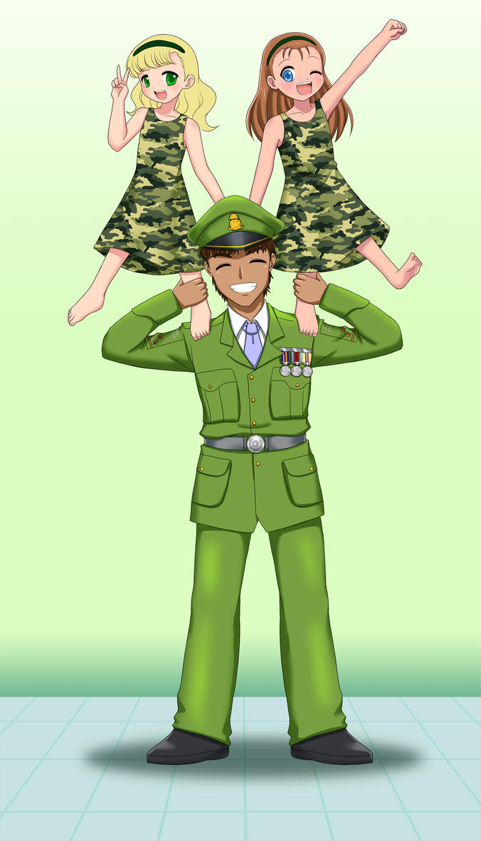 Soldiers on shoulders by RTCF